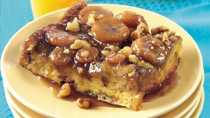 Bananas Fosters Topped Overnight French Toast Recipes — Dishmaps