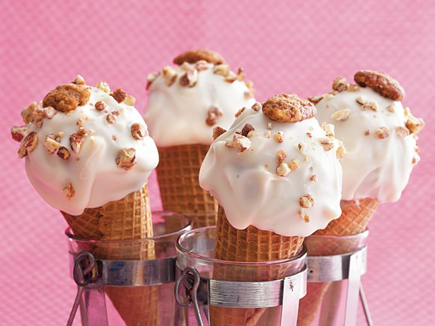 Butter Pecan Ice Cream Cones