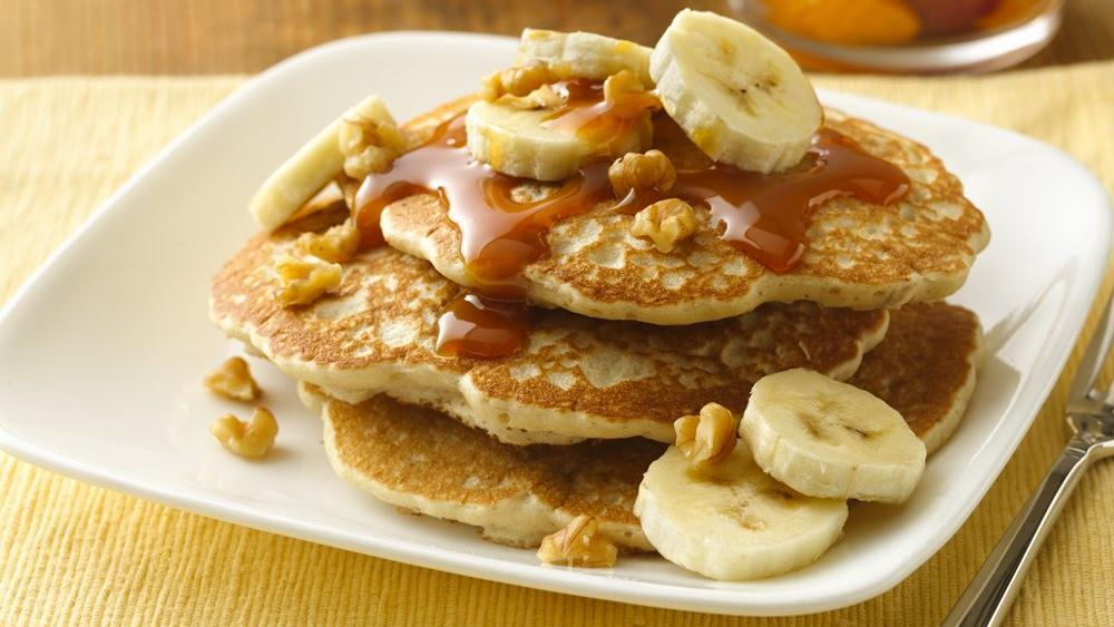 Banana-Walnut Pancakes