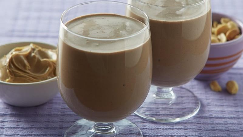 Peanutty Chocolate Banana Smoothies