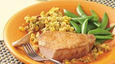 Slow Cooker Pork Chops with Corn Stuffing Recipe