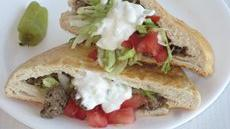 DIY Pocket Bread Sandwiches with Ground Lamb and Feta Recipe