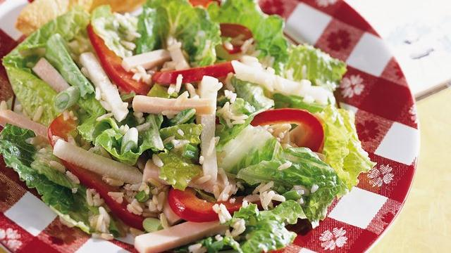 Turkey Rice 'n Romaine Salad