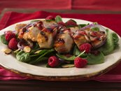 Grilled Chicken and Raspberry-Spinach Salad