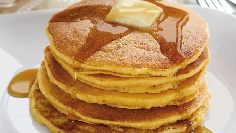 Sweet Potato Pancakes recipe from Betty Crocker