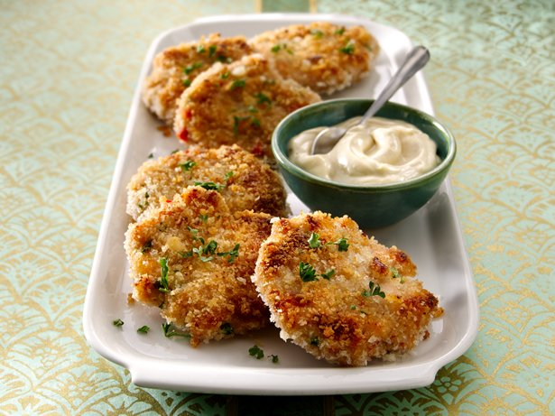Shrimp Cakes with Wasabi Mayo