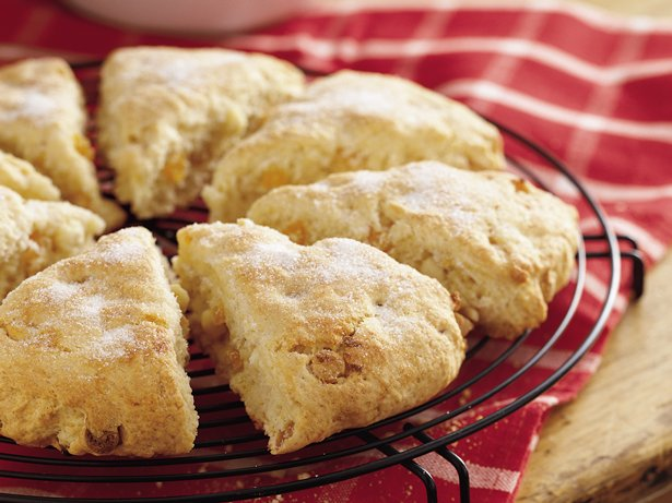 White Chocolate Apricot Scones