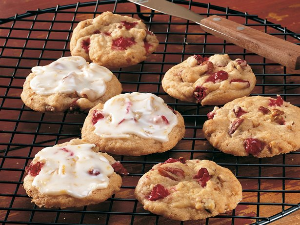 Orange-Frosted Cranberry Cookies