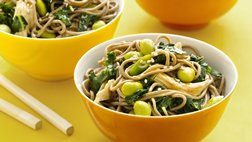 Gluten Free Asian Kale and Noodle Salad