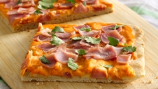 Ham and Creamy Sriracha Pizza Recipe