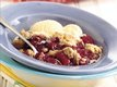 Apple-Raspberry Cookie Cobbler