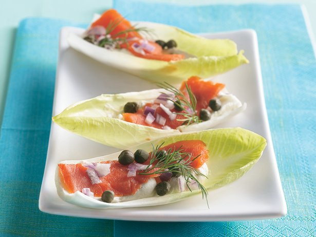 Endive-Salmon Boats