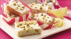 Lemon-Glazed Pistachio Bars Recipe