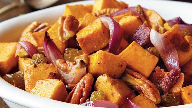 Sweet Potato Salad with Bacon Vinaigrette recipe from Betty Crocker