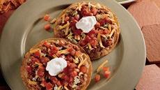 Beef &#39;n Bean Tostadas Recipe