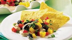 Caribbean Dip with Lime Chips