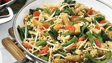 Teriyaki Vegetable Stir-fry with Ramen Noodles Recipe