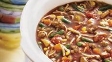 Slow-Cooked Hamburger and Noodle Soup Recipe