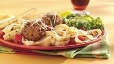 Italian Meatballs and Fettuccine Recipe