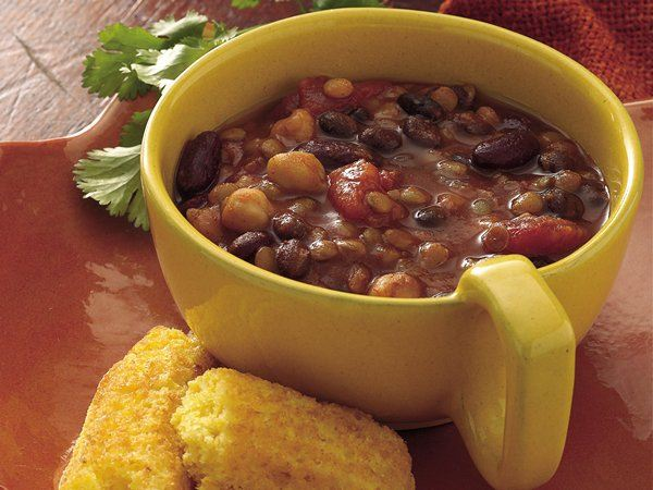 Slow Cooker Three-Bean Chili - Life Made Delicious