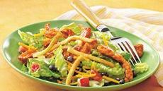 Taco-Seasoned Chicken Salad with Crispy Tortilla Topping Recipe