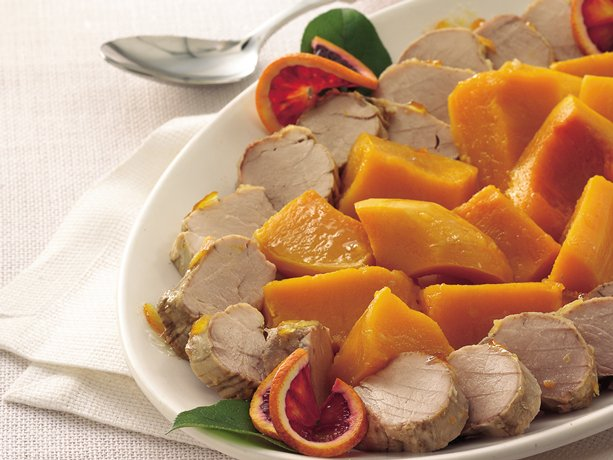 Slow Cooker Orange Pork Tenderloin with Butternut Squash
