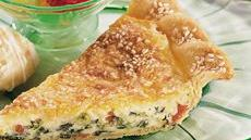 Dotted Swiss and Spinach Quiche Recipe