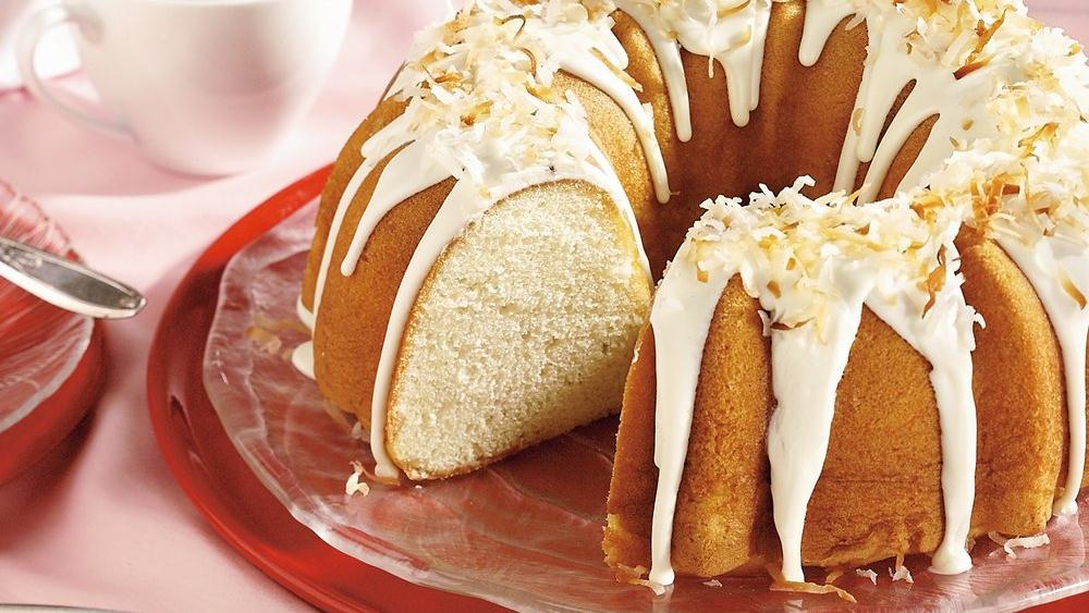 Coconut-Kissed Velvet Pound Cake