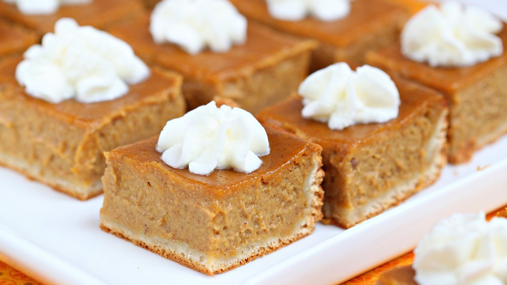 Pumpkin Pie Bars recipe from Pillsbury.com