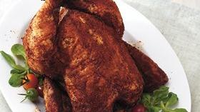 Grilled Beer-Can Chicken with Spicy Chili Rub Recipe