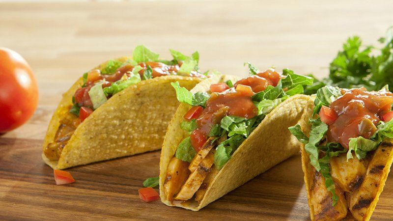 Diced Tomato Stand 'N Stuff® Chicken Tacos