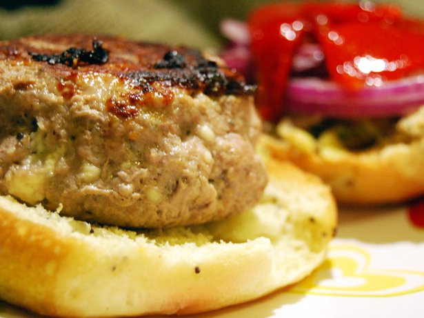 Greek-Inspired Turkey Burgers