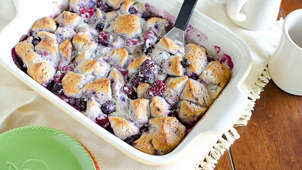 Berries and Cream Breakfast Bubble-Up Bake