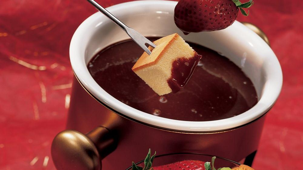Chocolate Turtle Fondue for Two