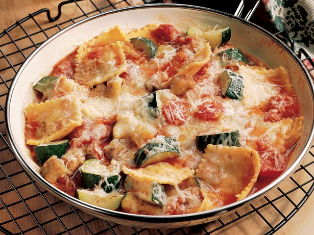 Ravioli and Eggplant Stew