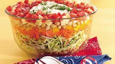 Layered Picnic Salad Recipe