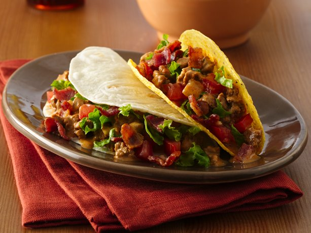 Image of Amazing Bacon Cheeseburger Tacos, Betty Crocker