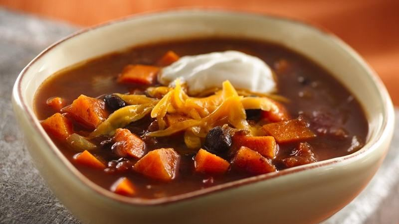 Slow-Cooker Black Bean Sweet Potato Chili