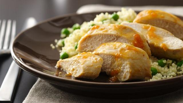 Glazed Chicken over Couscous Pilaf