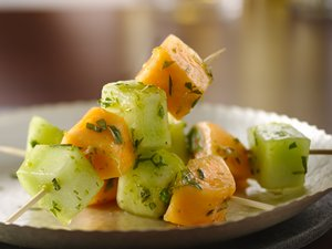 Mojito&#32;Melon&#32;Kabobs