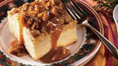 Apple Crisp Cake with Caramel Sauce Recipe