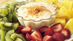 Gluten Free Fruit with Pia Colada Dip