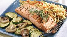 Grilled Salmon with Citrus-Dill Butter Recipe