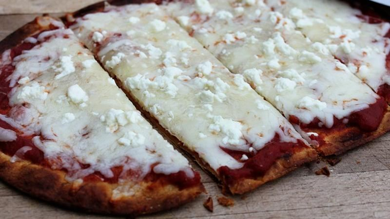 Four Cheese Flatbread Pizzas