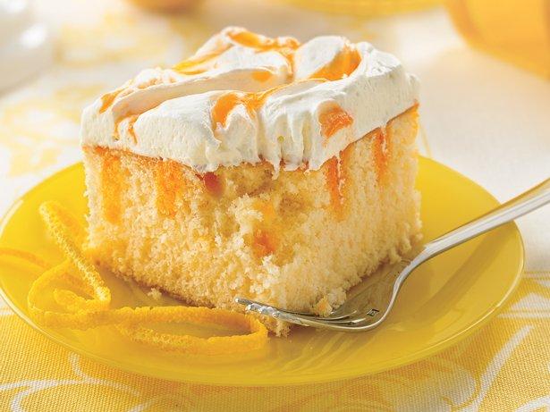 Creamy Orange Cake recipe from Betty Crocker