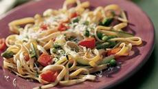 Whole Wheat Fettuccine with Spring Vegetables Recipe