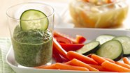 Lemon Peel Spinach Dip with Vegetable Dippers