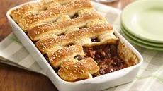 Two-Bean Burger Casserole Recipe