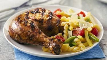 Grilled Garlic, Lemon and Pepper Butterflied Chicken