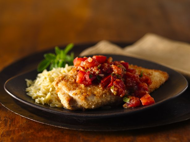 Breaded Chicken with Tomatoes 